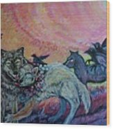 Homecoming Wolves And Ravens Wood Print
