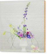 Homegrown Floral Bouquet Wood Print