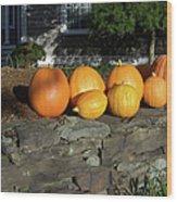 Homegrown Pumpkins Wood Print