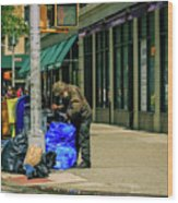 Homeless In Nyc Wood Print