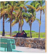 Home On The Beach Wood Print