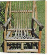 Homemade Lawn Chair Wood Print
