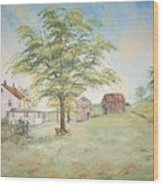 Homeplace - The Farmhouse Wood Print