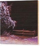 Homer Storm Wood Print