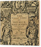 Homer Title Page, 1616 Wood Print
