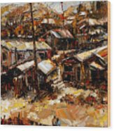 Homes In The Hills  Chaves Revine Wood Print