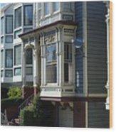 Homes Of San Francisco Wood Print