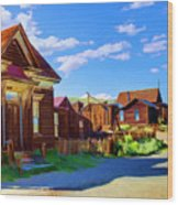 Homes Of The Past Wood Print