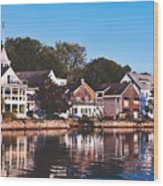Homes On Kennebunkport Harbor Wood Print
