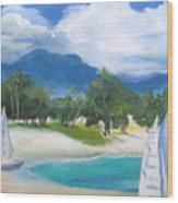 Homesick For Hawaii Wood Print