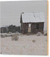 Homestead In Winter - Circa 1856 Wood Print