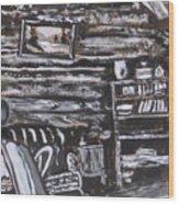 Homestead Interior Historical Vignette Wood Print