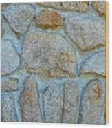 Homestead Stonework Wood Print