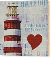 Hometown Bahamas Lighthouse Wood Print