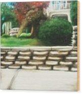 Hometown Garden Wood Print