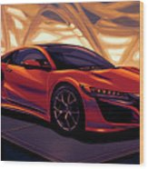 Honda Acura Nsx 2016 Mixed Media Wood Print