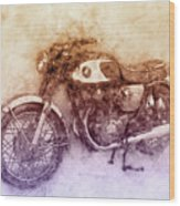 Honda Cb77 - Honda Motorcycles 2 - Motorcycle Poster - Automotive Art Wood Print