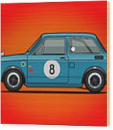 Honda N600 Blue Kei Race Car Wood Print
