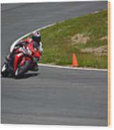 Honda Takes Turn 1 No 2 Wood Print