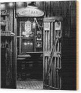Hondos Bar In Luckenbach Texas Wood Print