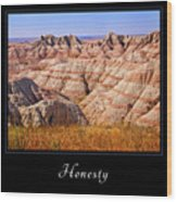 Honesty 1 Wood Print