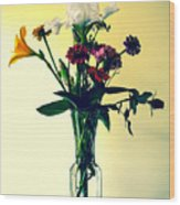Honey Creek Flowers Wood Print by Tom Zukauskas