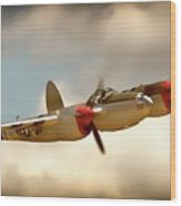 Honey Dancin P-38 Lightning Wood Print