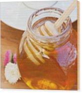Honey Jar Wood Print
