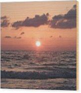 Honey Moon Island Sunset Wood Print
