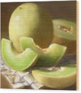 Honeydew Melons Wood Print by Robert Papp