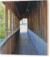 Honeymoon Bridge Sidewalk Wood Print