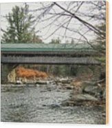 Honeymoon Covered Bridge Wood Print