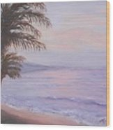 Honeymoon In Maui Wood Print