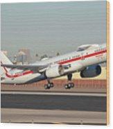 Honeywell Boeing 757-225 N757hw Phoenix Sky Harbor January 14, 2016 Wood Print