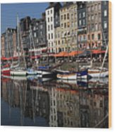 Honfleur Harbour France Wood Print