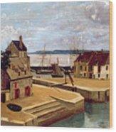 Honfleur  Houses On The Quay Wood Print