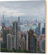 Hong Kong After Rain Wood Print