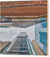 Hong Kong Buildings Colour Wood Print