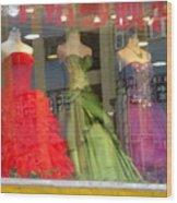 Hong Kong Dress Shop Wood Print