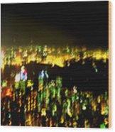 Hong Kong Harbor Abstract Wood Print