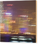 Hong Kong Harbor Abstracted Wood Print