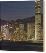 Hong Kong Harbor December 1 Wood Print