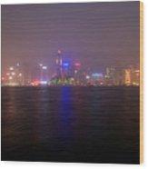 Hong Kong Harbor December 2 Wood Print