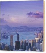 Hong Kong Harbor Wood Print