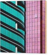 Hong Kong Offices Wood Print