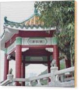 Hong Kong Temple Wood Print