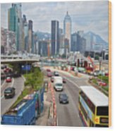 Hong Kong Traffic II Wood Print