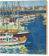 Hong Kong Victoria Harbor Wood Print
