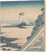 Honganji At Asakusa In Edo Wood Print
