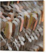 Honky Tonk Piano Keys Wood Print by Keith Sanders